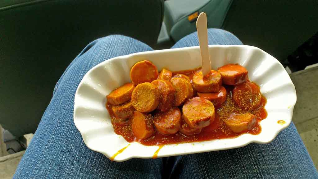 Currywurst, one of the most popular Berlin specialties